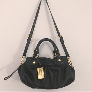 Marc by Marc Jacobs black leather shoulder bag